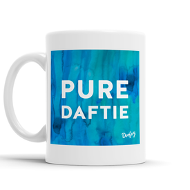 Pure Daftie Scottish Dialect Mug Mugs Scotland Scottish Scots Gift Ideas Souvenir Present Highland Tartan Personalised Patter Banter Slogan Pure Premium Dialect Glasgow Edinburgh Doofery