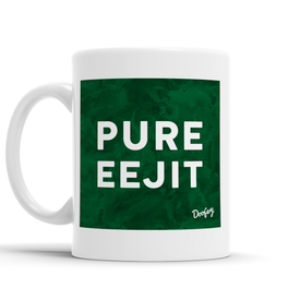 Pure Eejit Scottish Dialect Mug Mugs Scotland Scottish Scots Gift Ideas Souvenir Present Highland Tartan Personalised Patter Banter Slogan Pure Premium Dialect Glasgow Edinburgh Doofery
