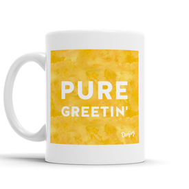Pure Greetin' Scottish Dialect Mug Mugs Scotland Scottish Scots Gift Ideas Souvenir Present Highland Tartan Personalised Patter Banter Slogan Pure Premium Dialect Glasgow Edinburgh Doofery