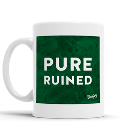 Pure Ruined Scottish Dialect Mug Mugs Scotland Scottish Scots Gift Ideas Souvenir Present Highland Tartan Personalised Patter Banter Slogan Pure Premium Dialect Glasgow Edinburgh Doofery