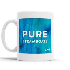 Pure Steamboats Scottish Dialect Mug Mugs Scotland Scottish Scots Gift Ideas Souvenir Present Highland Tartan Personalised Patter Banter Slogan Pure Premium Dialect Glasgow Edinburgh Doofery