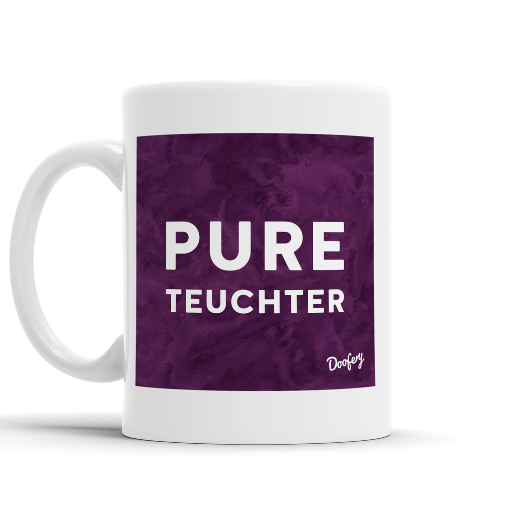 Pure Teuchter Scottish Dialect Mug Mugs Scotland Scottish Scots Gift Ideas Souvenir Present Highland Tartan Personalised Patter Banter Slogan Pure Premium Dialect Glasgow Edinburgh Doofery