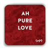 Ah pure love Scottish Dialect Coaster Coasters Scotland Scottish Scots Gift Ideas Souvenir Present Highland Tartan Personalised Patter Banter Slogan Pure Premium Dialect Glasgow Edinburgh Doofery