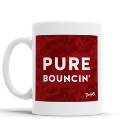 Pure Bouncin' Scottish Dialect Mug Mugs Scotland Scottish Scots Gift Ideas Souvenir Present Highland Tartan Personalised Patter Banter Slogan Pure Premium Dialect Glasgow Edinburgh Doofery