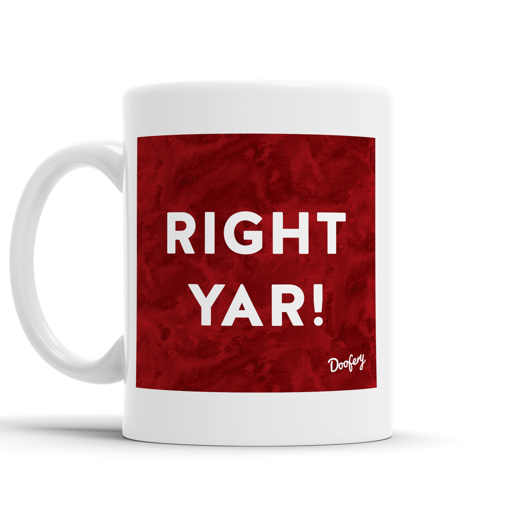 Right Yar Scottish Dialect Mug Mugs Scotland Scottish Scots Gift Ideas Souvenir Present Highland Tartan Personalised Patter Banter Slogan Pure Premium Dialect Glasgow Edinburgh Doofery
