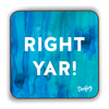 Right Yar Scottish Dialect Coaster Coasters Scotland Scottish Scots Gift Ideas Souvenir Present Highland Tartan Personalised Patter Banter Slogan Pure Premium Dialect Glasgow Edinburgh Doofery