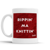 Rippin ma Knittin Scottish Dialect Mug Mugs Scotland Scottish Scots Gift Ideas Souvenir Present Highland Tartan Personalised Patter Banter Slogan Pure Premium Dialect Glasgow Edinburgh Doofery