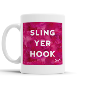 Sling Yer Hook Scottish Dialect Mug Mugs Scotland Scottish Scots Gift Ideas Souvenir Present Highland Tartan Personalised Patter Banter Slogan Pure Premium Dialect Glasgow Edinburgh Doofery