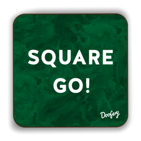 Square Go Scottish Dialect Coaster Coasters Scotland Scottish Scots Gift Ideas Souvenir Present Highland Tartan Personalised Patter Banter Slogan Pure Premium Dialect Glasgow Edinburgh Doofery