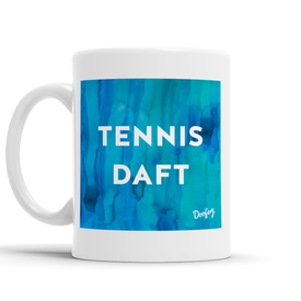 Tennis Daft Scottish Dialect Mug Mugs Scotland Scottish Scots Gift Ideas Souvenir Present Highland Tartan Personalised Patter Banter Slogan Pure Premium Dialect Glasgow Edinburgh Doofery