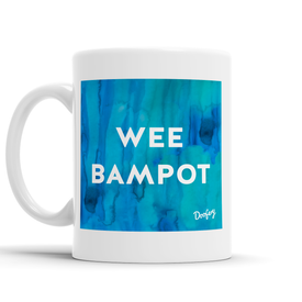 Wee Bampot Scottish Dialect Mug Mugs Scotland Scottish Scots Gift Ideas Souvenir Present Highland Tartan Personalised Patter Banter Slogan Pure Premium Dialect Glasgow Edinburgh Doofery