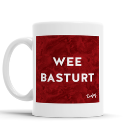 Wee Basturt Scottish Dialect Mug Mugs Scotland Scottish Scots Gift Ideas Souvenir Present Highland Tartan Personalised Patter Banter Slogan Pure Premium Dialect Glasgow Edinburgh Doofery