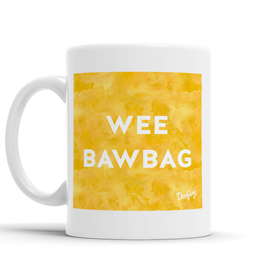 Wee Bawbag Scottish Dialect Mug Mugs Scotland Scottish Scots Gift Ideas Souvenir Present Highland Tartan Personalised Patter Banter Slogan Pure Premium Dialect Glasgow Edinburgh Doofery