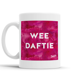 Wee Daftie Scottish Dialect Mug Mugs Scotland Scottish Scots Gift Ideas Souvenir Present Highland Tartan Personalised Patter Banter Slogan Pure Premium Dialect Glasgow Edinburgh Doofery