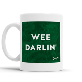 Wee Darlin' Scottish Dialect Mug Mugs Scotland Scottish Scots Gift Ideas Souvenir Present Highland Tartan Personalised Patter Banter Slogan Pure Premium Dialect Glasgow Edinburgh Doofery