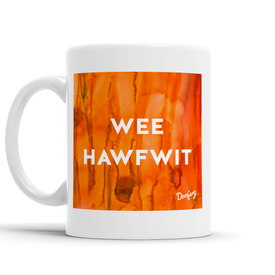 Wee Hawfwit Scottish Dialect Mug Mugs Scotland Scottish Scots Gift Ideas Souvenir Present Highland Tartan Personalised Patter Banter Slogan Pure Premium Dialect Glasgow Edinburgh Doofery