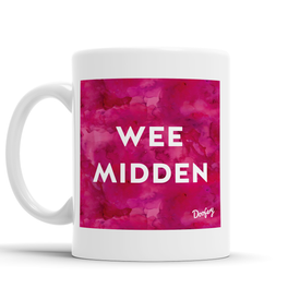 Wee Midden Scottish Dialect Mug Mugs Scotland Scottish Scots Gift Ideas Souvenir Present Highland Tartan Personalised Patter Banter Slogan Pure Premium Dialect Glasgow Edinburgh Doofery