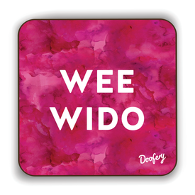 Wee Wido Scottish Dialect Coaster Coasters Scotland Scottish Scots Gift Ideas Souvenir Present Highland Tartan Personalised Patter Banter Slogan Pure Premium Dialect Glasgow Edinburgh Doofery