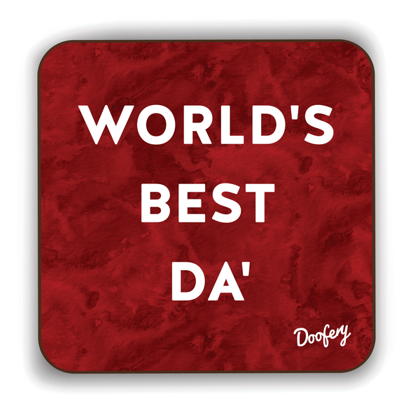 World's Best Da' Scottish Dialect Coaster Coasters Scotland Scottish Scots Gift Ideas Souvenir Present Highland Tartan Personalised Patter Banter Slogan Pure Premium Dialect Glasgow Edinburgh Doofery