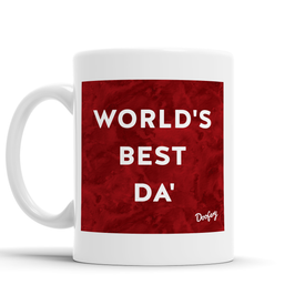 World's Best Da' Scottish Dialect Mug Mugs Scotland Scottish Scots Gift Ideas Souvenir Present Highland Tartan Personalised Patter Banter Slogan Pure Premium Dialect Glasgow Edinburgh Doofery