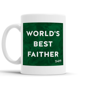 World's Best Faither Scottish Dialect Mug Mugs Scotland Scottish Scots Gift Ideas Souvenir Present Highland Tartan Personalised Patter Banter Slogan Pure Premium Dialect Glasgow Edinburgh Doofery