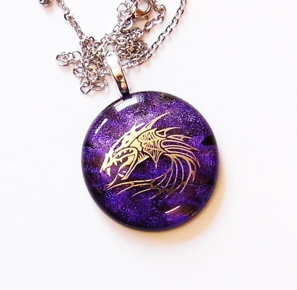 Silver Dragon design pendants.