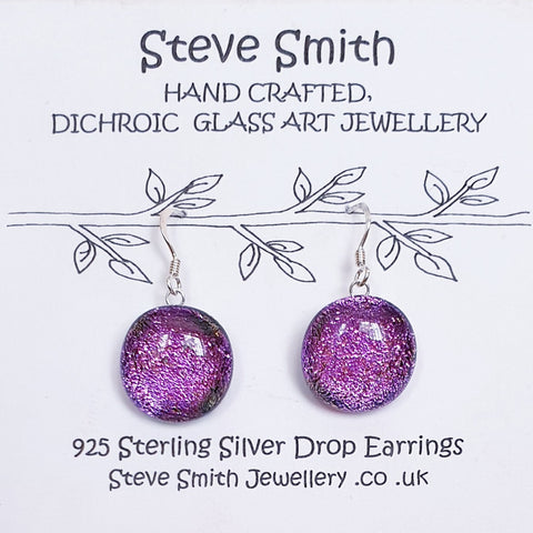 Dichroic glass Drop Earrings