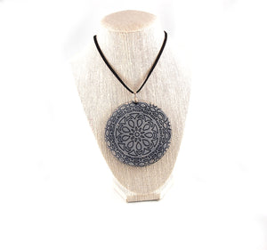 NL1 - Mandala Handmade Leather Necklace / Choker - Fearless hART