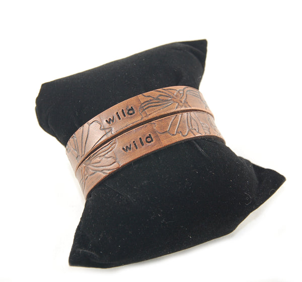 "WL3 - 'Connected"" Matched Pair Leather Bracelets - Fearless hART"