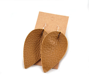 LE01 - Leather Tear Drop Earrings - Fearless hART