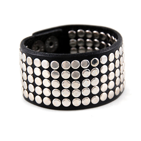 EL1 - The Rocker 130 Riveted Leather Cuff - Fearless hART