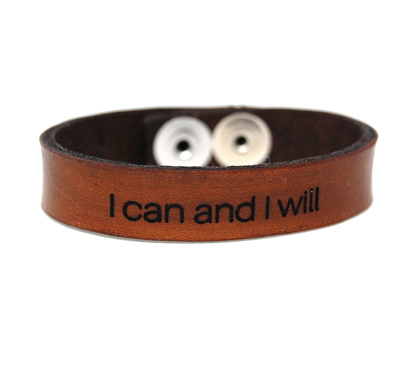 "LE3 - Laser Engraved Leather Bracelets 1/2"" wide"