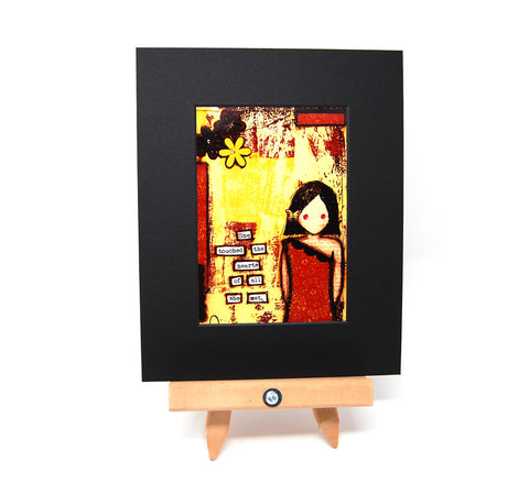 "PR1 - Matted Art Print ""She Touched the Hearts of all She Met"""