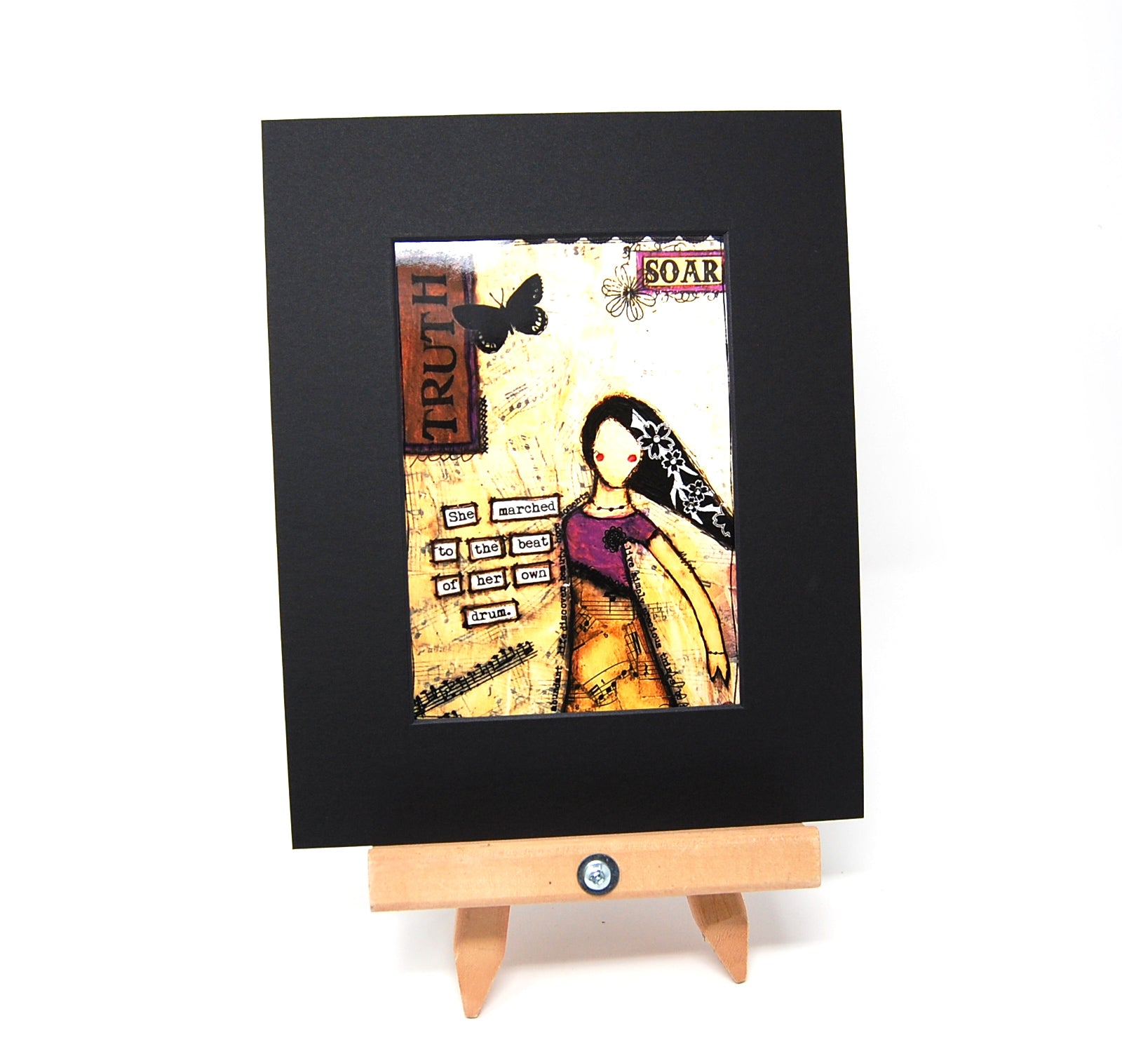 "PR1 - Matted Art Print ""She Marched to the Beat of Her Own Drum"""