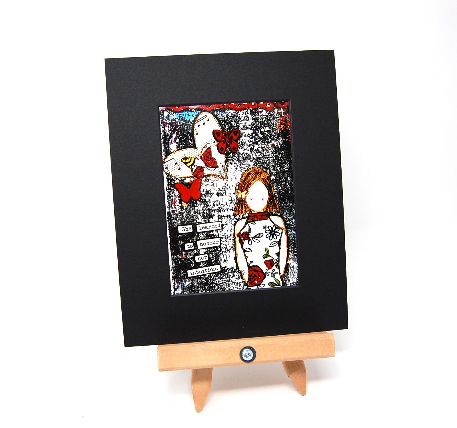 "PR1 - Matted Art Print ""She Learned to Honour Her Intuition"""
