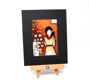 "PR1 - Matted Art Print ""She Chose to be the Author..."""