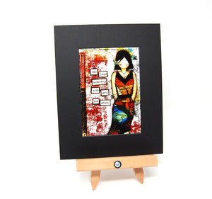 "PR1 - Matted Art Print ""She Faced Adversity With Grit and Grace"""