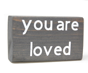 Stained Wood Blocks - Meaningful Messages.
