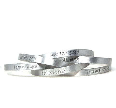 "Metal Bracelets - 1/4"" wide - Wearable Reminder Collection"
