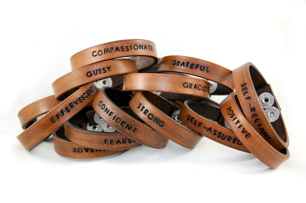 WL3 - Wear Your Word Leather Bracelet Custom Order - Fearless hART