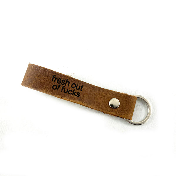 KEY2 - Laser Engraved Leather Key Chain