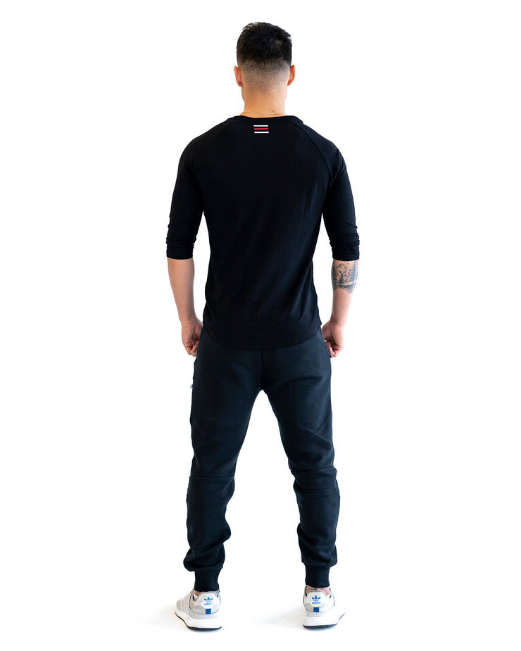 Lyte 3/4 Sleeve Shirt - Black