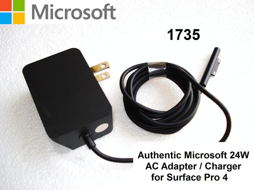 New Genuine Microsoft Surface Pro 4 AC Adapter Charger Surface 1735 1736 1824 15V 1.6A 24W