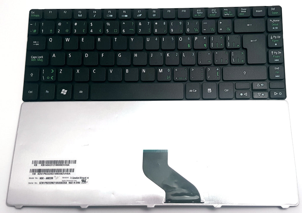 New Acer Aspire 4738 4738G 4738Z 4738ZG Canadian Bilingual Keyboard