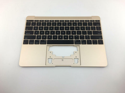 New Apple MacBook Retina 12 A1534 2016 2017 Gold Keyboard Top Case 661-04883 613-02547
