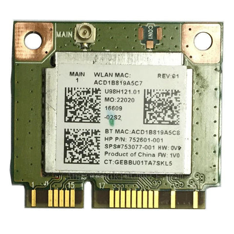 HP Realtek RT8723BE 802.11bgn WiFi BT4.0 Combo Adapter 753077-001 752601-001