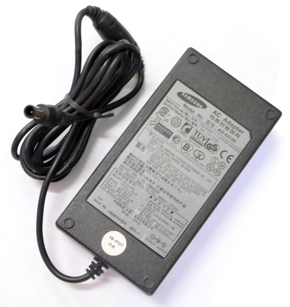 Genuine Samsung Dell AC Adapter Charger AD-4214N 14V 3A 42W 6.5*4.4mm - Center Pin