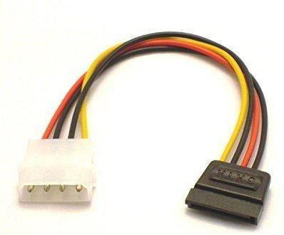 4 PIN IDE Molex Male TO 15 PIN Female SATA HDD DVD Adapter Power Cable