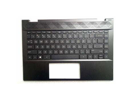 New HP Pavilion x360 14-cd 14m-cd Black and Silver Palmrest Keyboard L18947-001 L22401-001 L23240-281