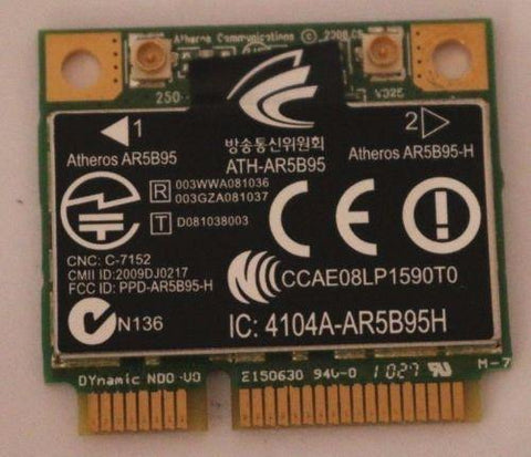 Atheros AR5B95 Wireless N 802.11n Half-Mini PCI-E WIFI WLAN Card # 605560-005
